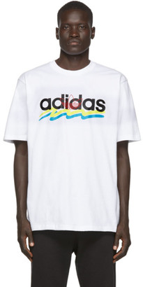 adidas White Brush Stroke T-Shirt