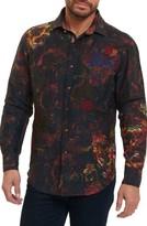 Robert Graham Men's Mystical Garden Print Linen Sport Shirt