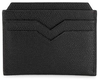 Valextra Pebbled Leather Cardholder
