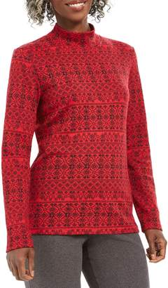 Karen Scott Petite Fair Isle Cotton-Blend Top