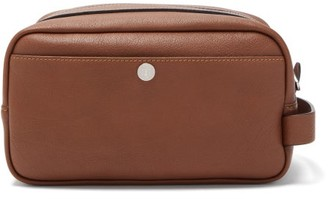 Brunello Cucinelli Zipped Leather Wash Bag - Brown