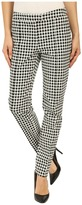 Adrianna Papell Gingham Jacquard Pants