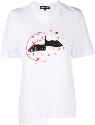 Markus Lupfer Shannon sequin-embellished T-shirt