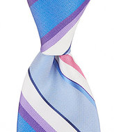 Roundtree & Yorke Trademark Forward Stripe Traditional Silk Tie