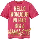Masala Namaste Hello Tee (Toddler/Kid) - Pink-4 Years