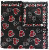 Alexander McQueen Poppy Skull scarf - women - Silk/Modal - One Size