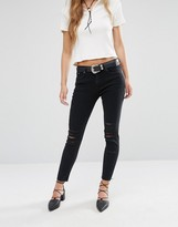 MANGO Distressed Ripped Skinny Jean