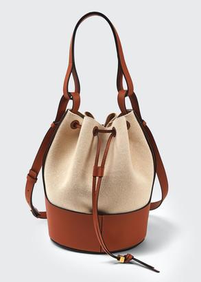 Loewe Balloon Two-Tone Bucket Bag