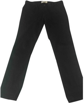 Acquaverde Black Cotton Trousers for Women