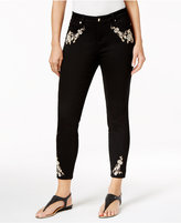 Thalia Sodi Embroidered Straight-Leg Jeans, Created for Macy's