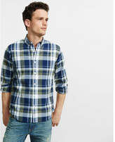 Express soft wash plaid shirt