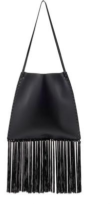 Jil Sander Border Fringed Leather Bag