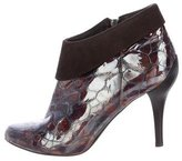 Donald J Pliner Patent Leather Layered Booties