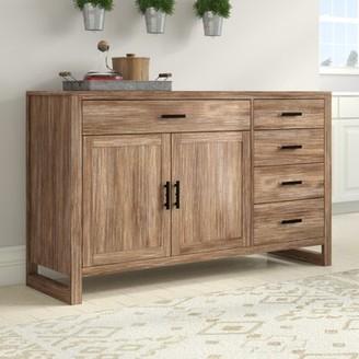 "August Grove Zeno 60"" Wide 5 Drawer Wood Sideboard"