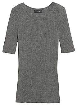 Theory Women's Moving Rib Wool Tee
