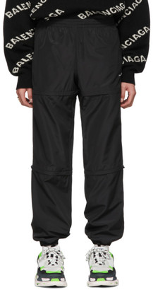 Balenciaga Black Zipped Track Lounge Pants
