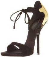 Giuseppe Zanotti Women's Gold Back Ankle Strap Sandal