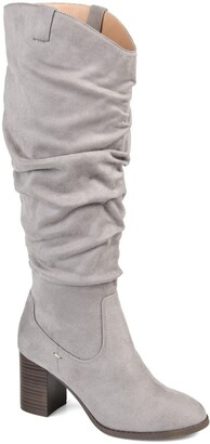 Journee Collection Aneil Ruched Tall Boot - Wide Calf
