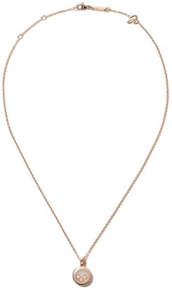 Chopard 18kt rose gold Happy Diamonds Icons necklace