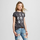 L.O.L. Vintage Women's Moon Phases Graphic Tee Black