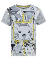Pokemon Childrens/Boys Official Character Panel Design T-Shirt