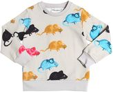 Mini Rodini Mice Organic Light Cotton Sweatshirt