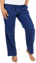 Leveret Women's Sleep Bottoms Navy - Navy Flannel Pajama Pants - Women