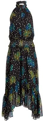 A.L.C. Kaia Floral Fil Coupe Midi Dress
