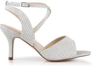 Paradox London Glitter 'Hadora' Wide Fit Mid Heel Sandal