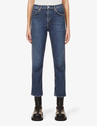 AGOLDE Wilder straight-leg mid-rise organic cotton-blend denim jeans