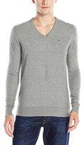 Tommy Hilfiger Men's Original Cotton Blend V-Neck Long Sleeve Sweater