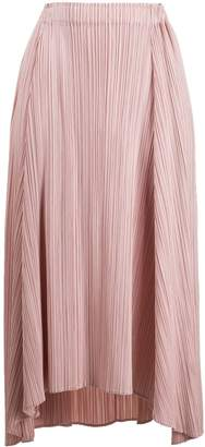 Pleats Please Issey Miyake Asymmetric Pleated Skirt