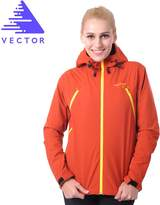 Vector Waterproof Windproof Women Rain Jacket Hoody for Running Hiking Climbing