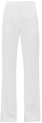 Carolina Herrera Stitched-seam Flared-leg Twill Trousers - Ivory