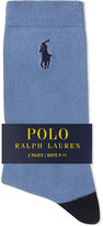Ralph Lauren Whale Cotton-blend Socks Pack Of Two