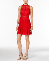 GUESS Lace Cutout-Back A-Line Dress