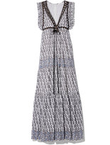 Tory Burch Amita Dress in Blue/White, Size 0