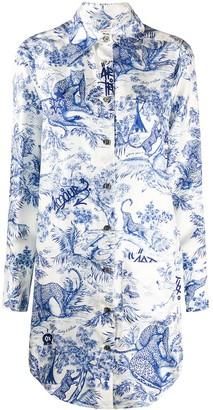 Zadig & Voltaire Fashion Show Rais silk shirt dress
