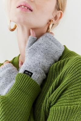 Urban Outfitters Super-Soft Fingerless Gloves - Grey ALL at