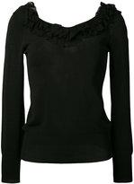 Ermanno Scervino ruffle neckline top - women - Polyamide/Polyester/Viscose - 40