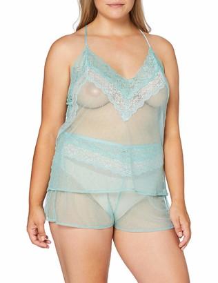 women'secret Women's Short plumetti and lace Pajamas Not Applicable