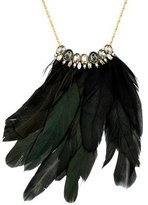 Alexis Bittar Feather & Crystal Pendant Necklace