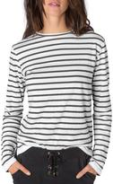 Ragdoll LA STRIPED LONG SLEEVE TEE Black-White
