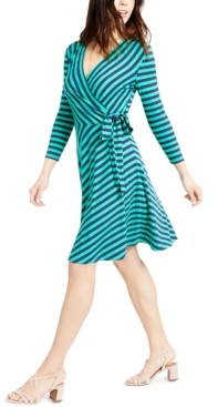 Maison Jules Striped Wrap Dress, Created for Macy's