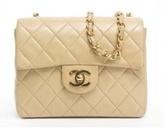 Chanel Beige Lambskin Mini Flap Bag