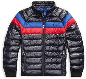 Ralph Lauren Boy's Striped Puffer Jacket