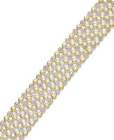 Townsend Victoria Diamond Five-Row Circle Bracelet in 18k Gold over Sterling Silver (1 ct. t.w.)