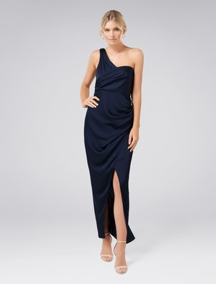 Ever New Camille Asymmetric One-Shoulder Drape Maxi Dress