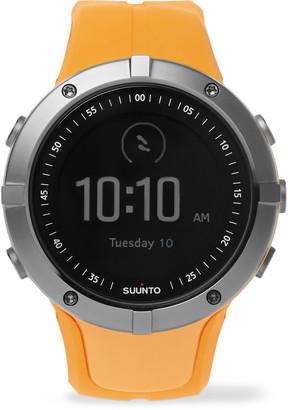 Suunto Spartan Sport Gps Gunmetal-Tone And Silicone Watch