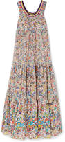 Missoni Mare Crochet Knit-trimmed Printed Cotton-voile Maxi Dress - Yellow